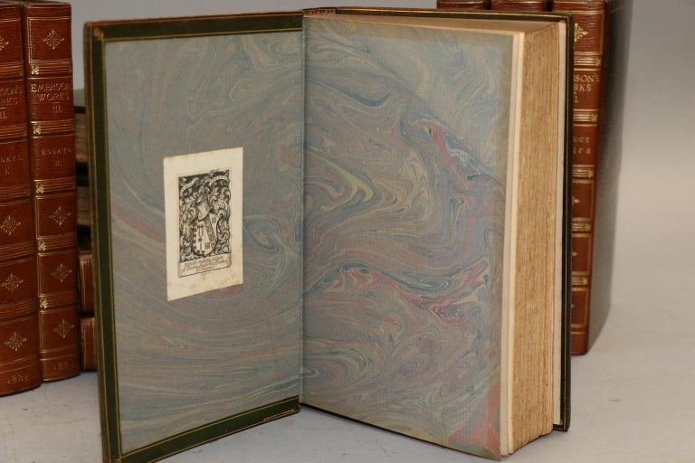 Books, Ralph Waldo Emerson's Complete Works In Good Condition For Sale In New York, NY