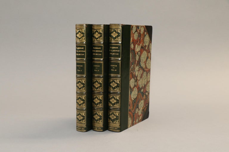 3 volumes. First edition! Rebound in 3/4 green calf with marbeled edges, raised bands, & gilt panels. Published in London by Longman, Brown, Green in 1855.