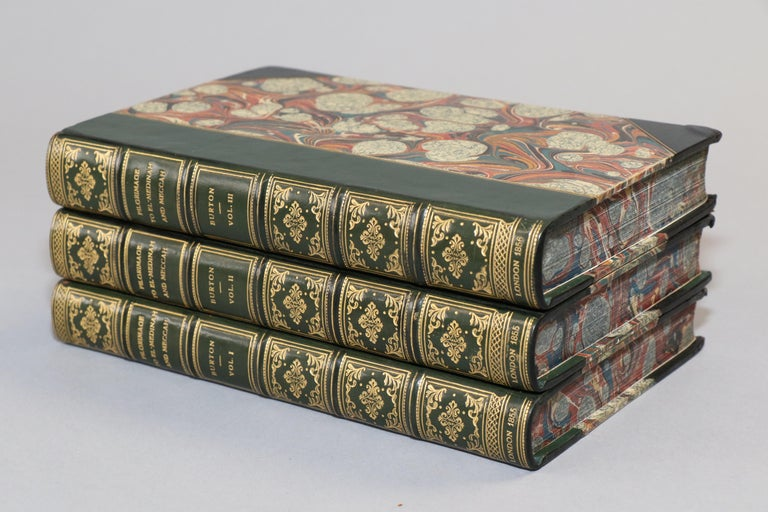 Dyed Books, Richard F. Burton's 'Pilgrimage to Al-Madinah & Meccah' For Sale