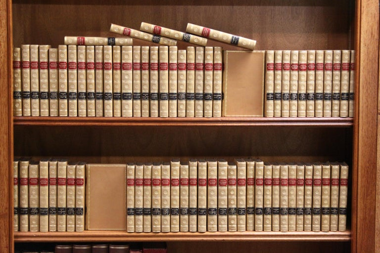 The Writings of Sir. Walter Scott. The Waverley Novels. Pub: Edinburgh: Archibald Constable and Co. Various other Publishers, Various Dates 74 vols. Bound in full tan polished calf by Morrell, all edges gilt, raised bands, gilt panels, red and