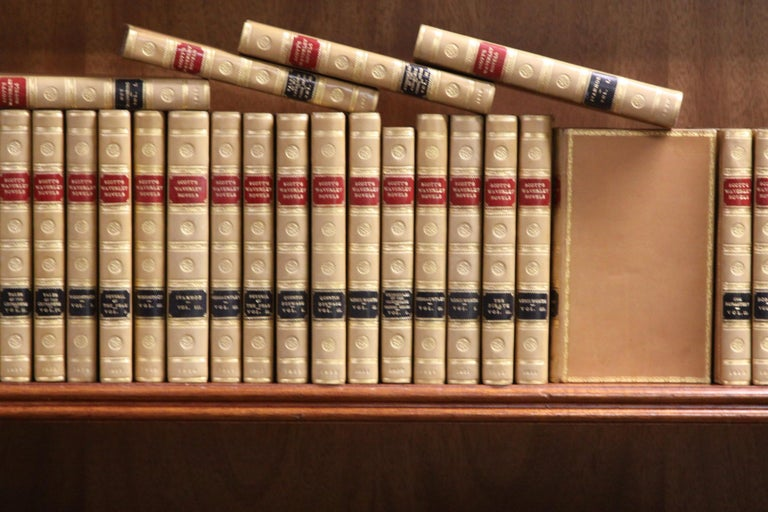 American Books.  Sir Walter Scott Writings. Collections of  Antiques Books. First Edition For Sale