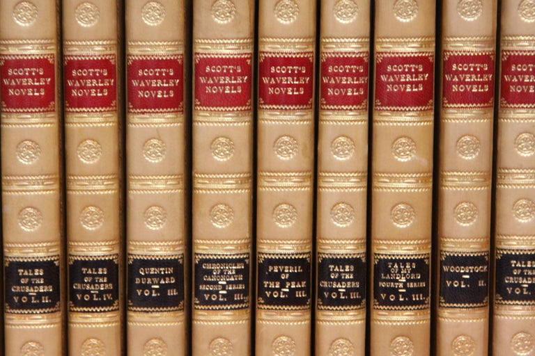 19th Century Books.  Sir Walter Scott Writings. Collections of  Antiques Books. First Edition For Sale