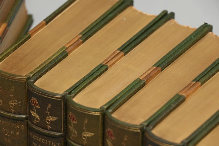 Late 19th Century Books, The Collected Works of George Meredith For Sale