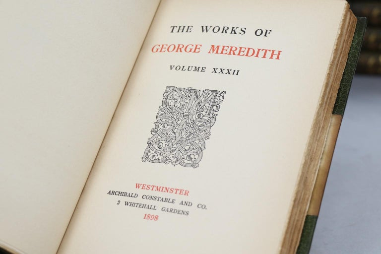 Books, The Collected Works of George Meredith For Sale 1