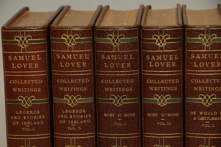 Deluxe Edition. Leatherbound. 10 volumes. Limted to 26 copies, this is #B. Exquisitely bound in full brown Morocco with elaborate blue silk and leather doubloons, as well as ornate floral gilt on spines & covers. Profusely illustrated throughout!