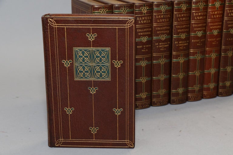 Gilt Books, The Collected Writings of Samuel Lover For Sale