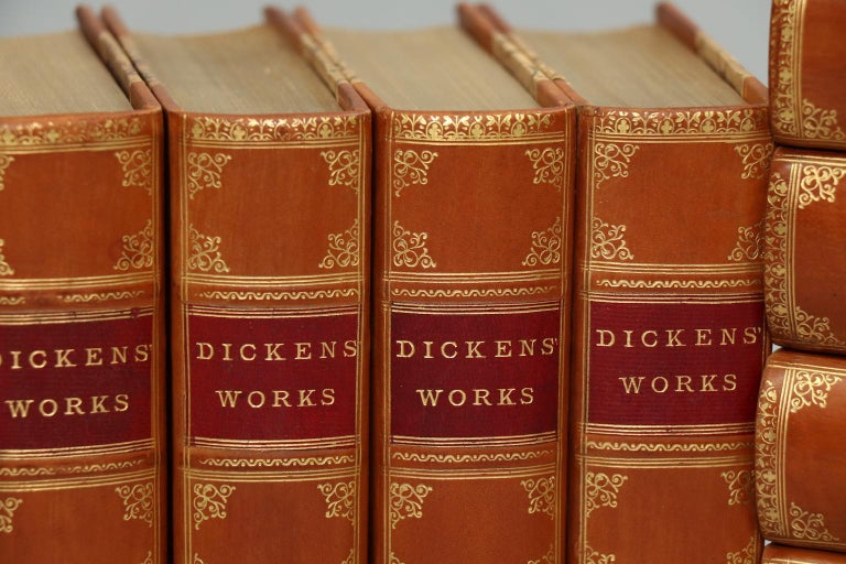 Gilt Books, the Complete Works of Charles Dickens