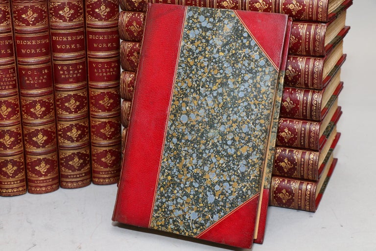 Books, The Complete Works of Charles Dickens Library Edition In Good Condition In New York, NY