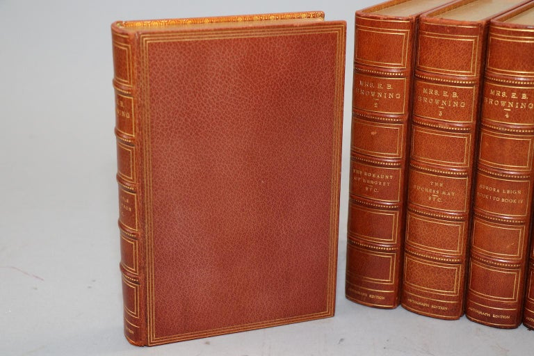 Dyed Books, The Complete Works of E.B. Browning For Sale