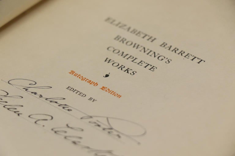 Books, The Complete Works of E.B. Browning For Sale 1