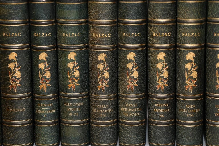American Books, the Complete Works of Honore De Balzac Limited Edition De Grand Luxe