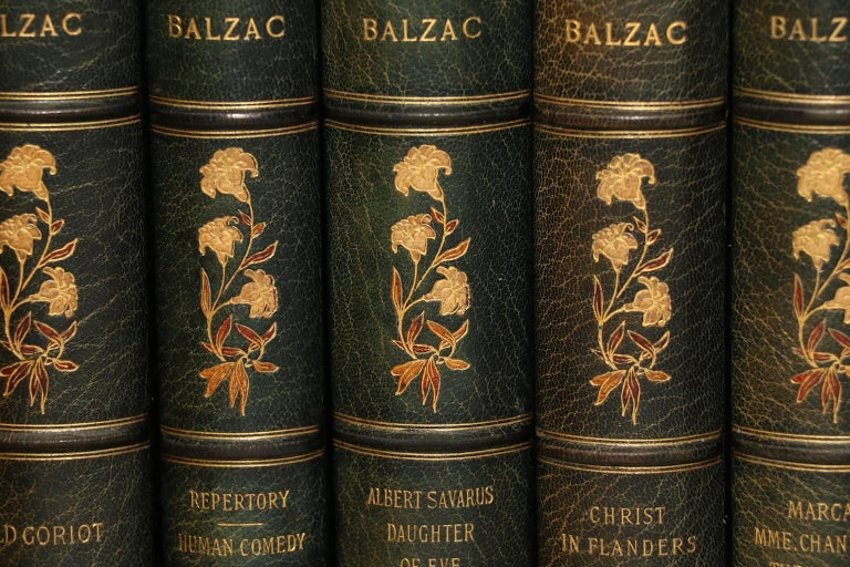 Dyed Books, the Complete Works of Honore De Balzac Limited Edition De Grand Luxe