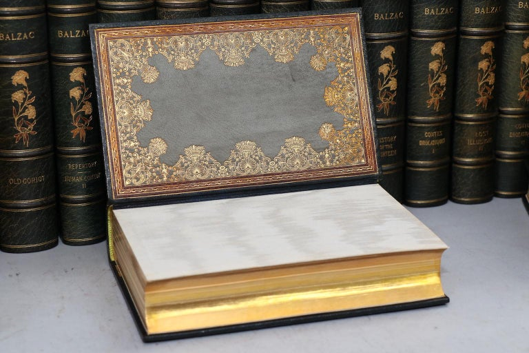 Books, the Complete Works of Honore De Balzac Limited Edition De Grand Luxe In Good Condition In New York, NY