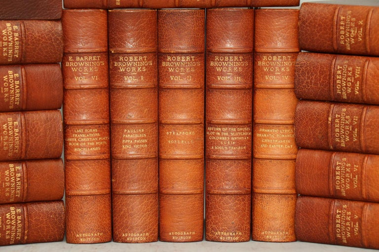 American Books, The Complete Works of Mrs. E.B. Browning and Robert Browning For Sale