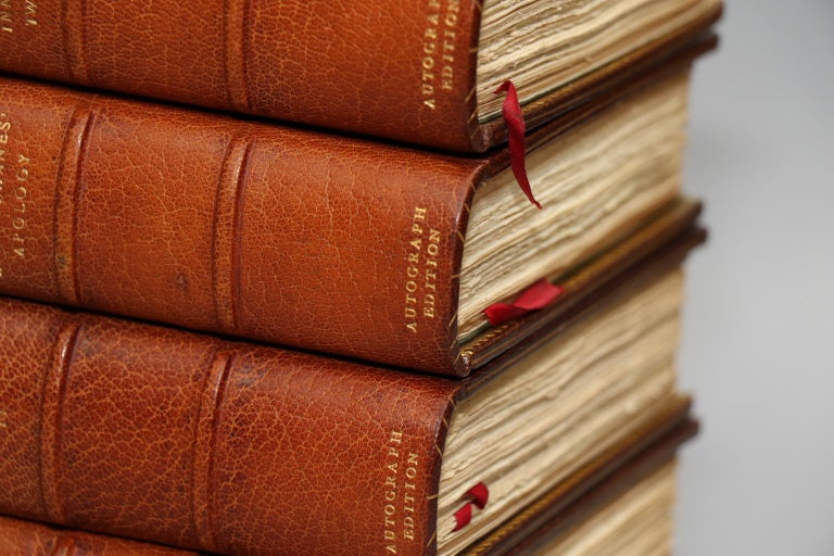 Dyed Books, The Complete Works of Mrs. E.B. Browning and Robert Browning For Sale