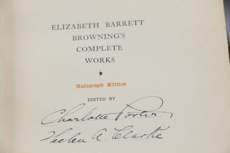 Books, The Complete Works of Mrs. E.B. Browning and Robert Browning For Sale 1