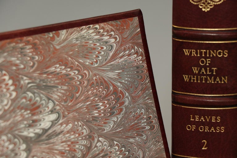 Leather Books, The Complete Works of Walt Whitman For Sale