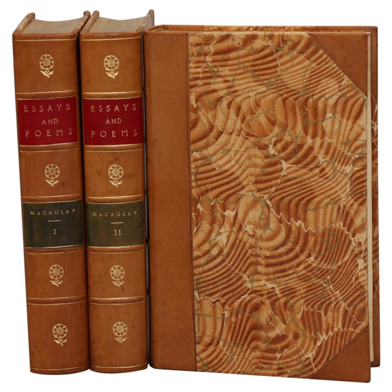 Books, The Essays and Poems of Thomas A. Macaulay For Sale