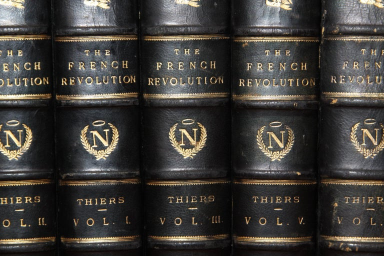 18th Century and Earlier Books, the History of the French Revolution, Collection Antique Leatherbound Set For Sale