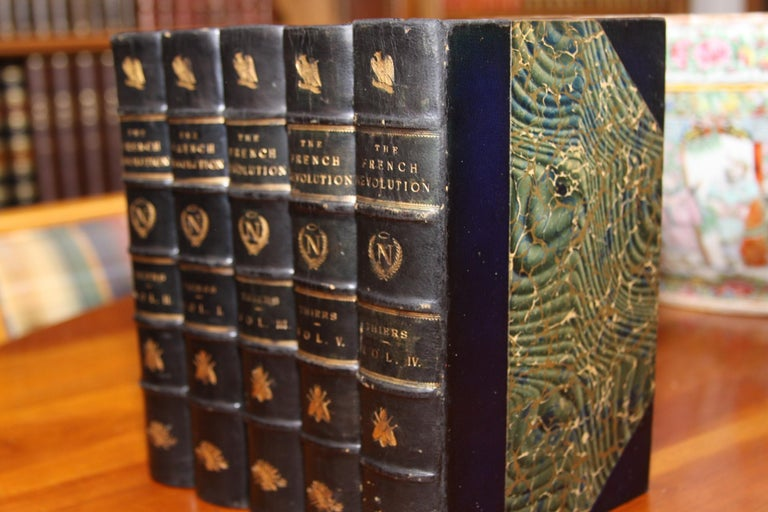 Books, the History of the French Revolution, Collection Antique Leatherbound Set For Sale 1