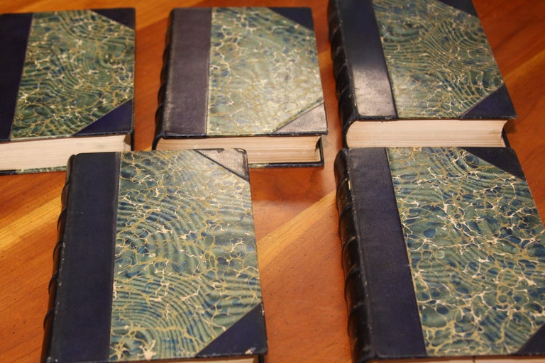 Books, the History of the French Revolution, Collection Antique Leatherbound Set For Sale 2