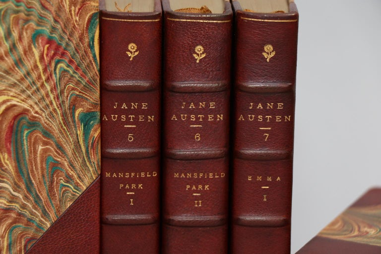 Dyed Books, The Novels of Jane Austen, Edited by Brimley Johnson Winchester Edition For Sale