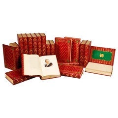 Books, The Novels of Samuel Richardson, Antiques Leather-Bound Collections