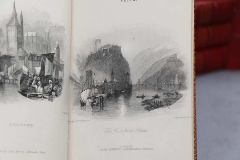 Leather Books, the Poetical Works of Lord Byron For Sale