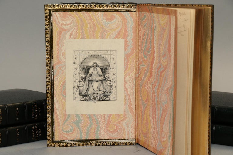 Leather Books, the Works of Ben Johnson Complete Set For Sale