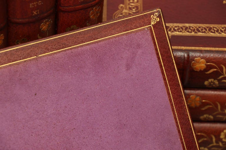 Leather Books, The Works of Benjamin Disarelli Prime Minister's Edition! For Sale