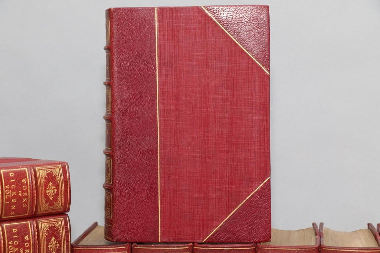 American Books, The Works of Charles Dickens  National Library Edition For Sale