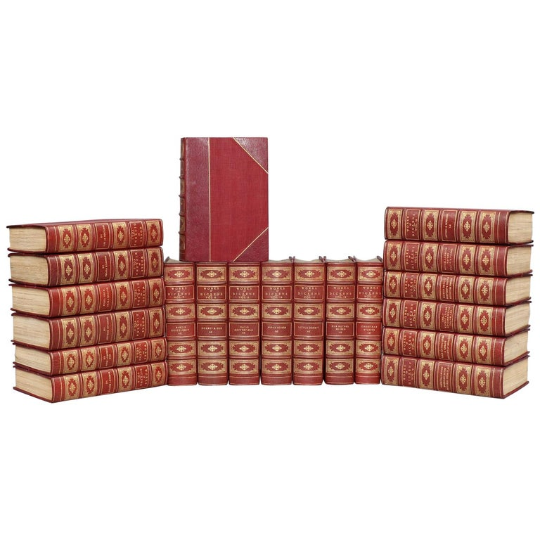 Books, The Works of Charles Dickens  National Library Edition For Sale