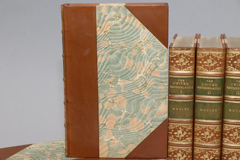 Dyed Books, The Works of John L. Motley For Sale
