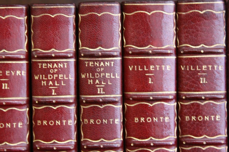 Dyed Books, the Works of the Bronte Sisters For Sale