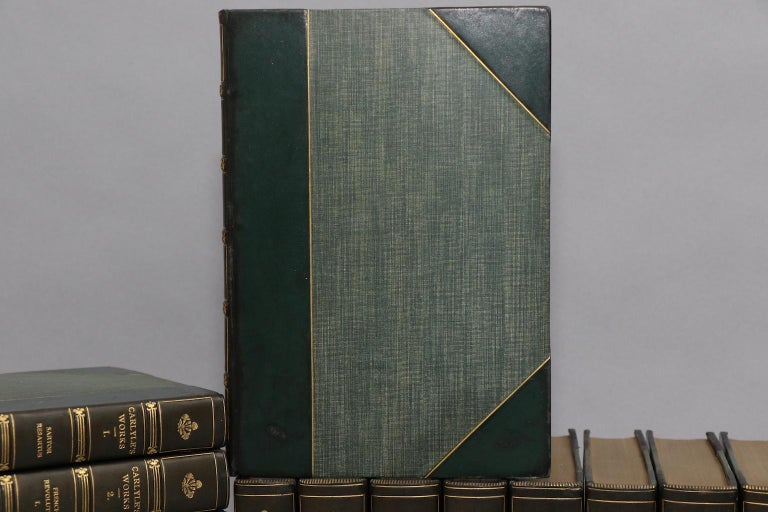 Dyed Books, The Works of Thomas Carlyle For Sale