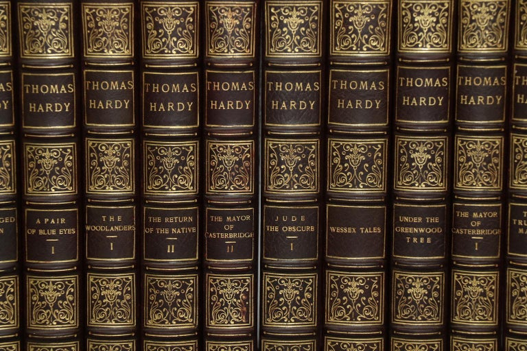 Dyed Books, The Works of Thomas Hardy Signed Mellstock Edition For Sale