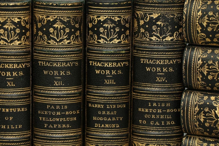 English Books, The Works of William Makepeace Thackeray Illustrated For Sale