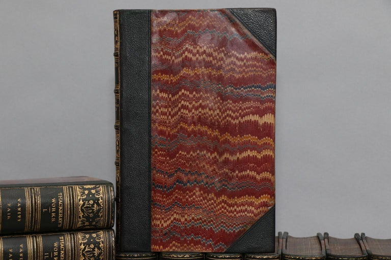 Dyed Books, The Works of William Makepeace Thackeray Illustrated For Sale