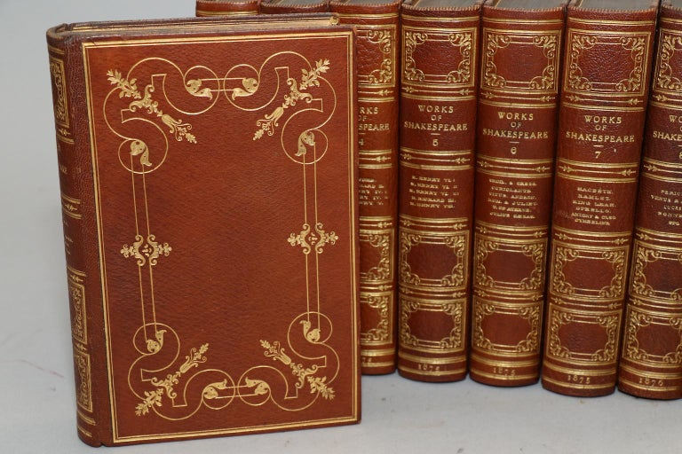 Dyed Books, The Works of William Shakespeare, Text revised by the Rev. Alexander Dyce For Sale