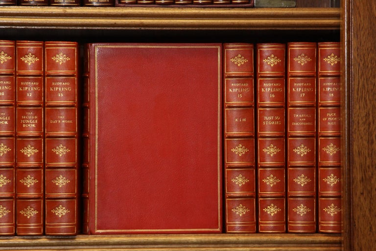 Thirty-one volumes. The Bombay Edition of the Writings of Rudyard Kipling. Published: London, Macmillan and Company, 1913. Limited to 1050 copies and printed on the Florence Press TYPE, which handmade paper bearing the watermark