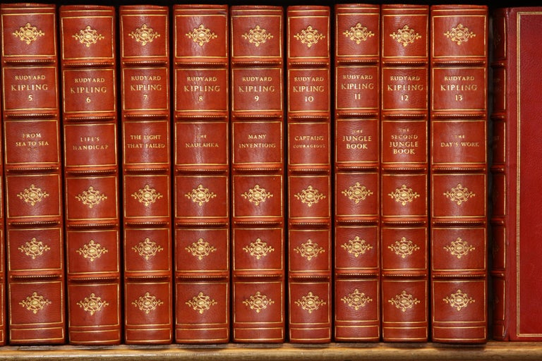 Books The Writings of Rudyard Kipling, The Bombay Edition Collected Antiques Set In Good Condition For Sale In New York, NY