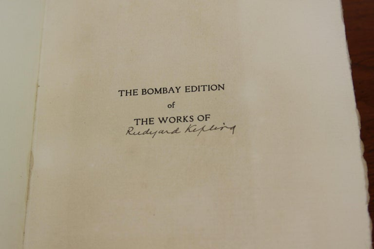 Books The Writings of Rudyard Kipling, The Bombay Edition Collected Antiques Set For Sale 4