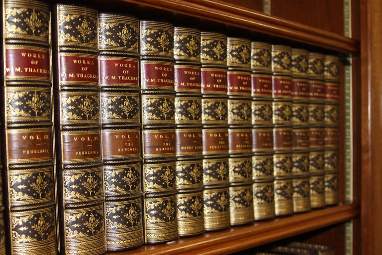 Books, The Writings of William Makepeace Thackeray, Antiques Leather-Bound Set In Good Condition For Sale In New York, NY