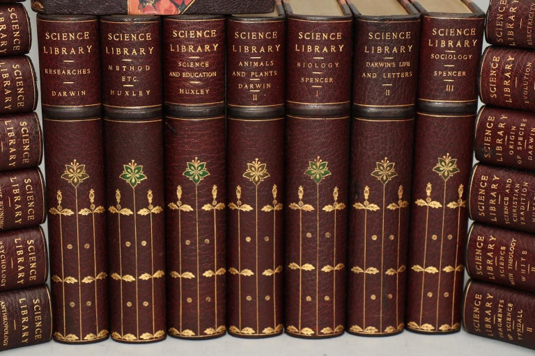 Westminster Edition (Appleton-Authorized Edition). Leatherbound. Sixty-three volumes. Octavo. Limited to 1000 sets, this is privately bound in exquisite three-quarter maroon leather over marbled boards with finely tooled floral design in gold and