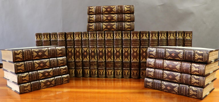 Victor Hugo novels, The Centenary Edition, limited to 1000 copies, 30 volumes