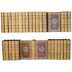 Books, Victor Hugo Writings, Antique Leather-Bound Collections
