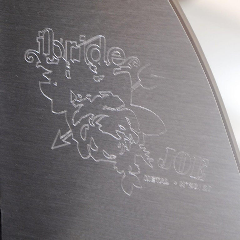 Bookshelf Iron Joe Grey by Ibride, Laminate & Steel, France 2009, Nb 20/20 In Good Condition For Sale In Brussels, BE