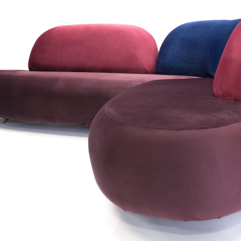 Boom Sofa in Velvet Fabric by Mool In New Condition For Sale In Mexico City, MX