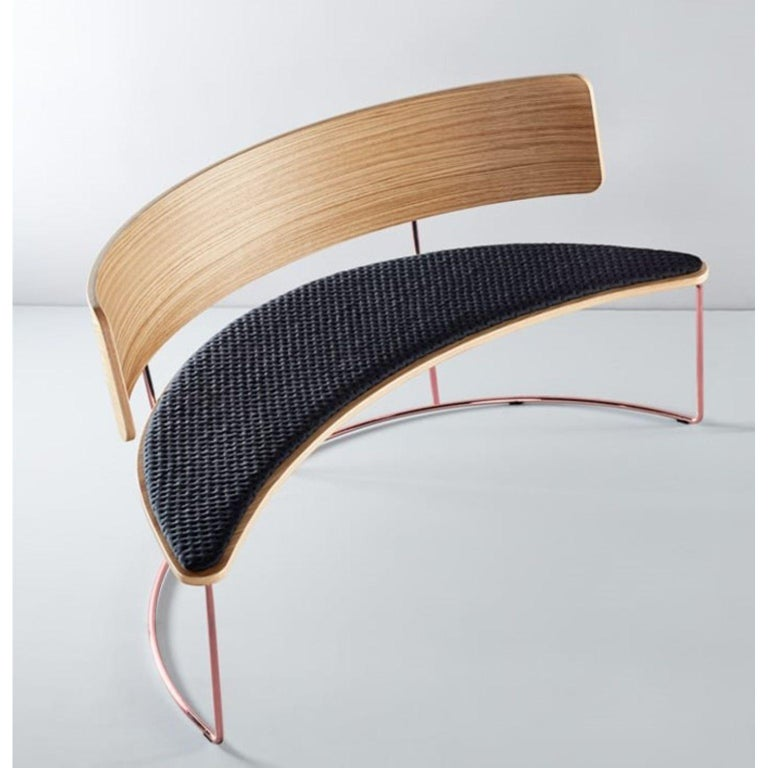 Spanish Boomerang Bench, Black by Cardeoli For Sale