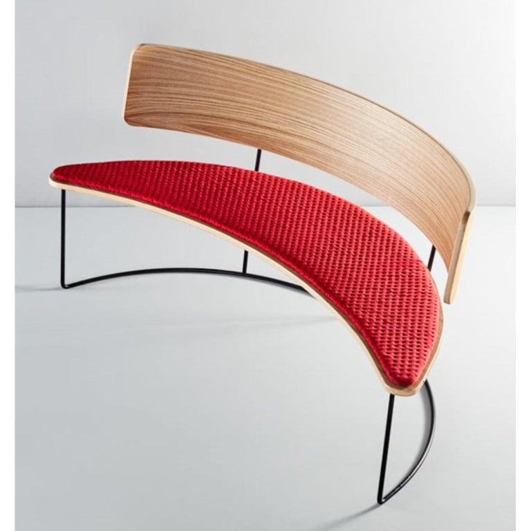 Boomerang Bench, Black by Cardeoli In New Condition For Sale In Geneve, CH